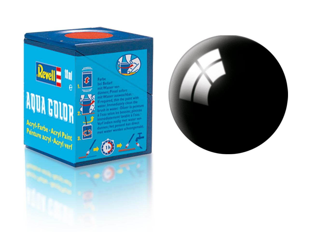Farba Revell akrylová - 07: lesklá čierna (black gloss)