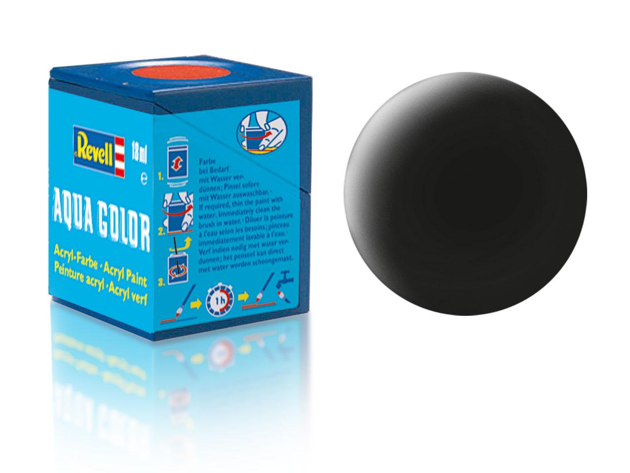Farba Revell akrylová - 08: matná čierna (black matt)