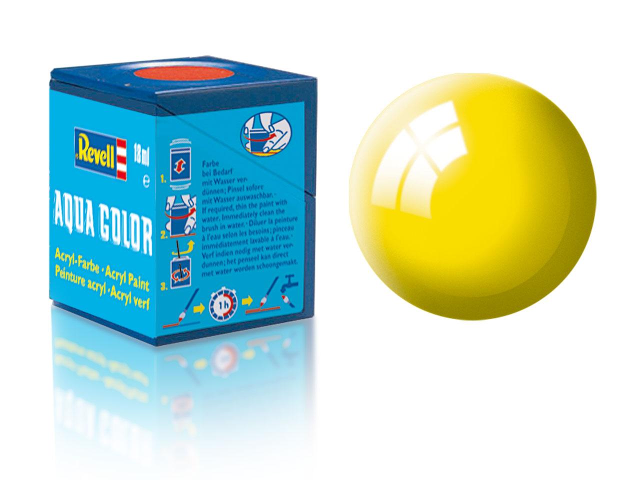 Farba Revell akrylová - 12: lesklá žltá (yellow gloss)