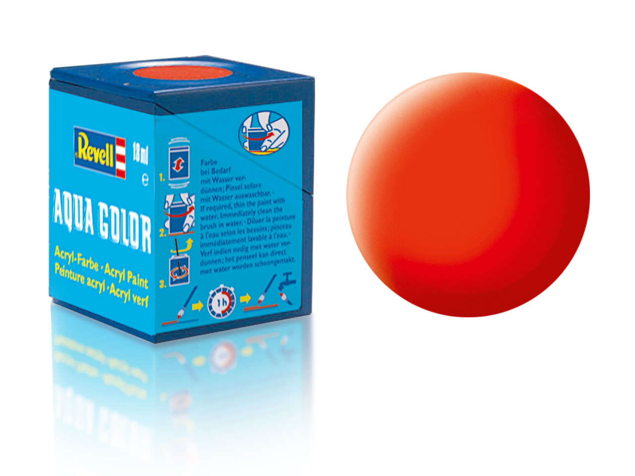 Farba Revell akrylová - 25: matná svetlo oranžová (luminous orange matt)