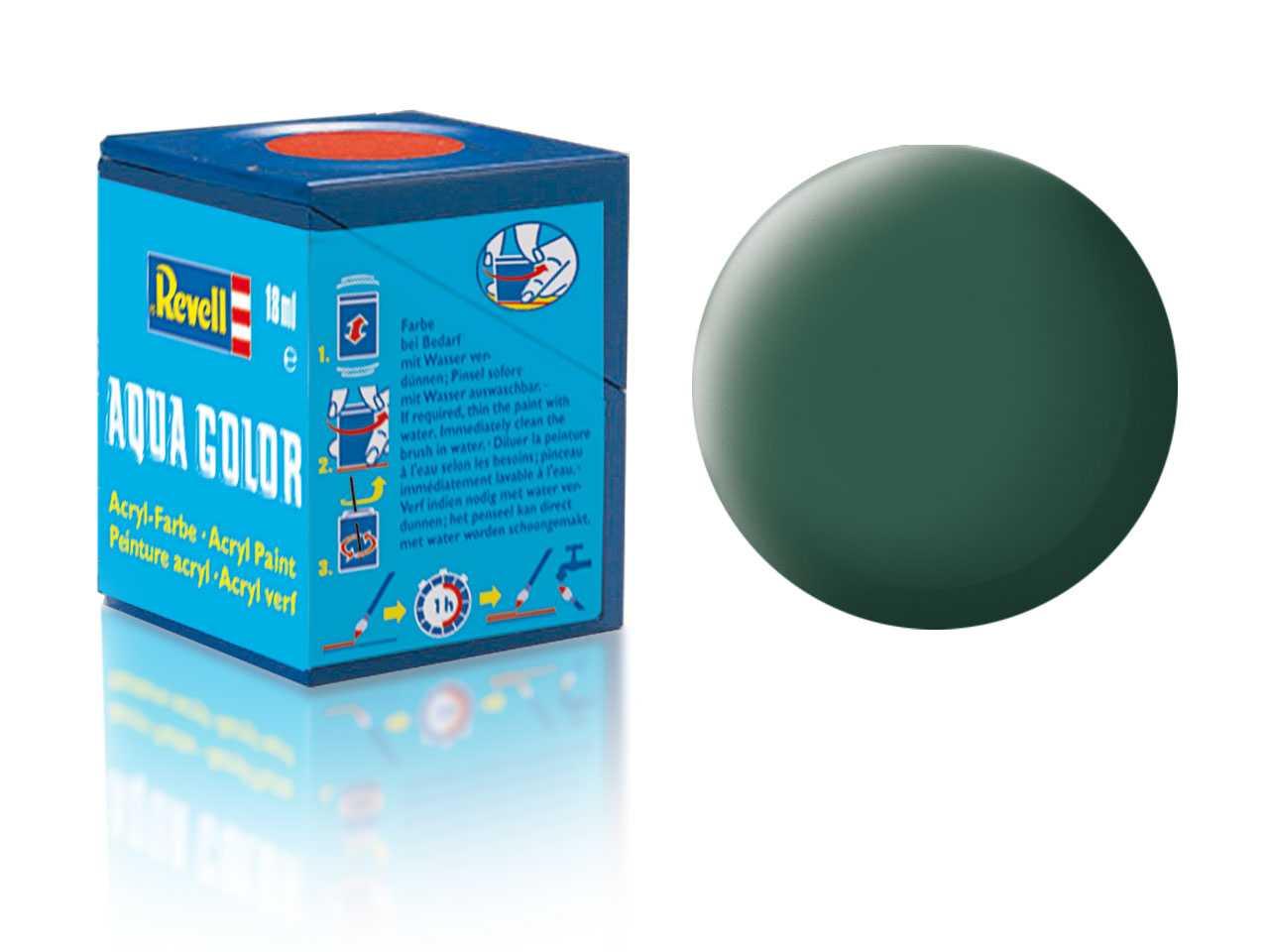 Farba Revell akrylová - 39: matná tmavo zelená (dark green matt)