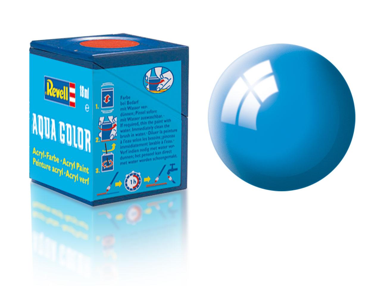 Farba Revell akrylová - 50: lesklá svetlo modrá (light blue gloss)