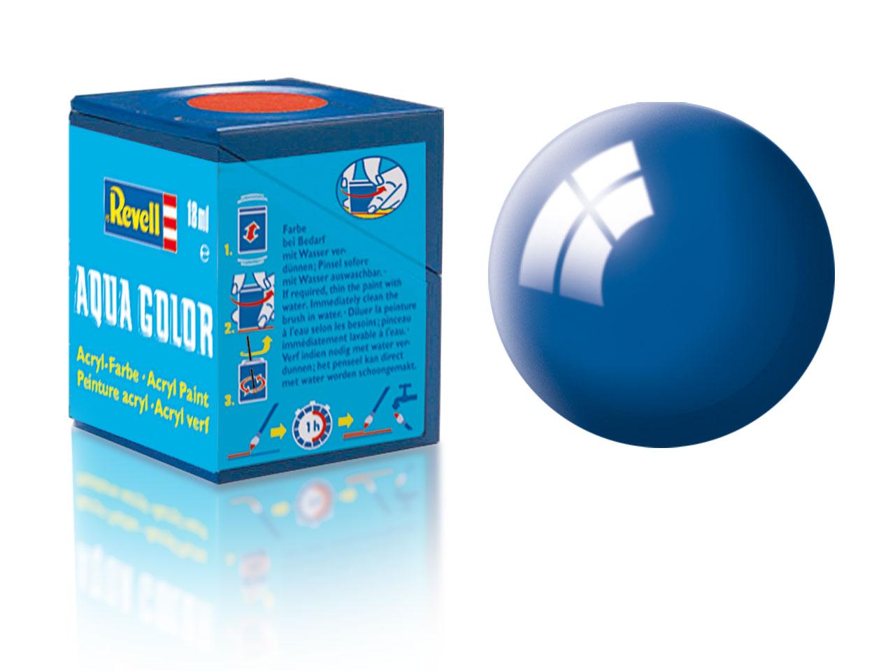 Farba Revell akrylová - 52: lesklá modrá (blue gloss)