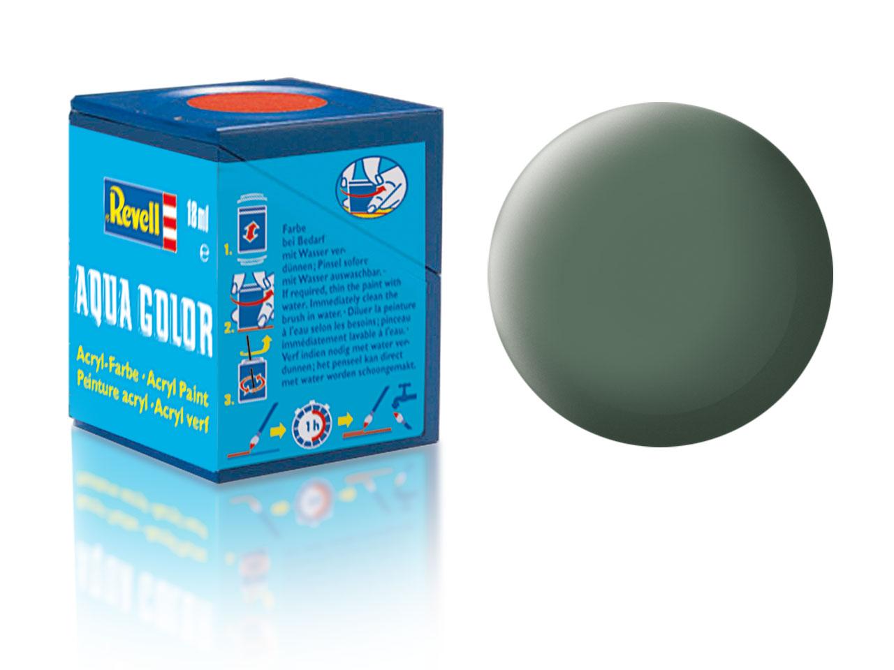 Farba Revell akrylová - 67: matná zelenavo šedá (greenish grey matt)