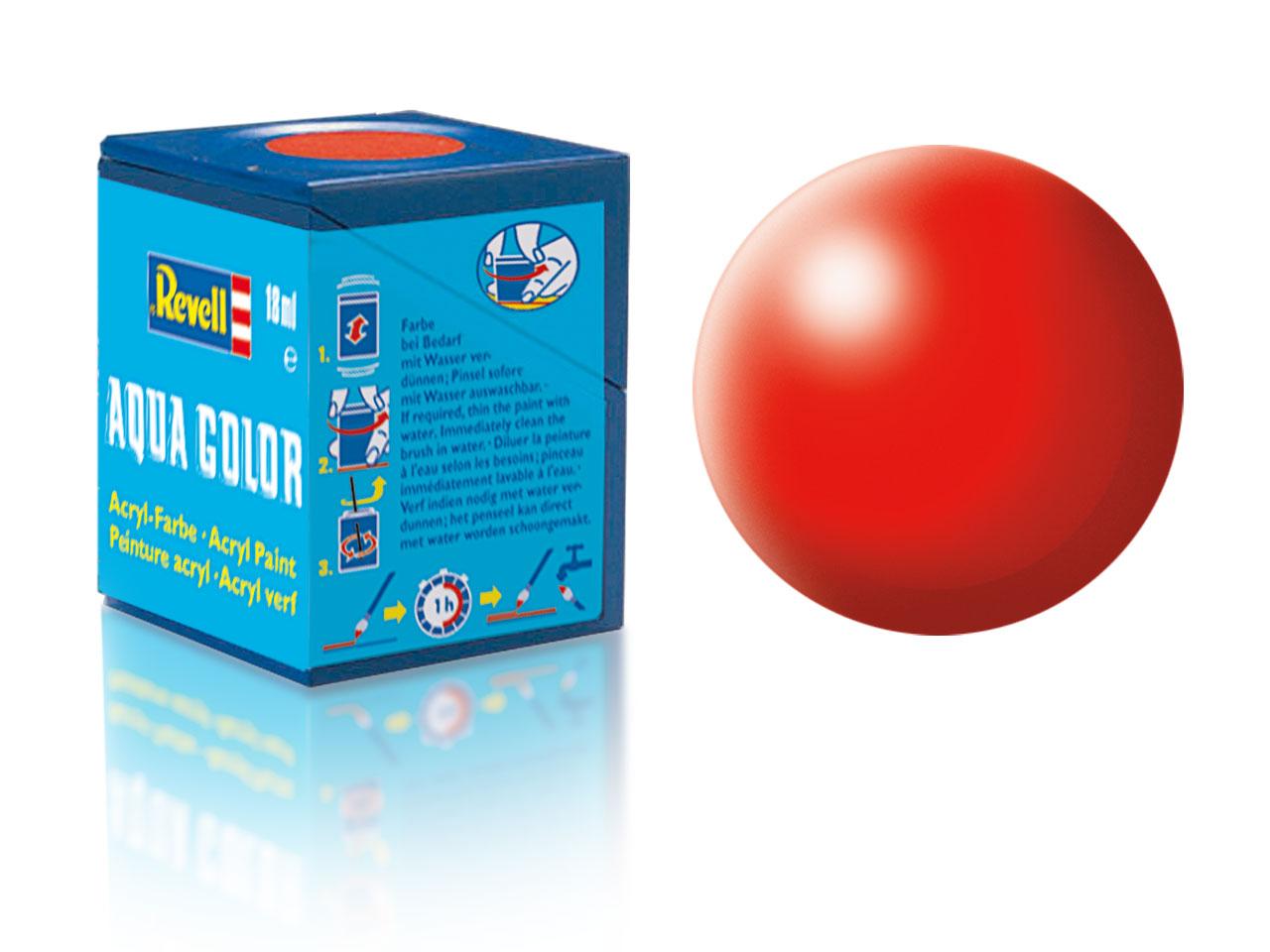 Farba Revell akrylová - 332: hodvábne matná svetlo červená (luminous red silk)