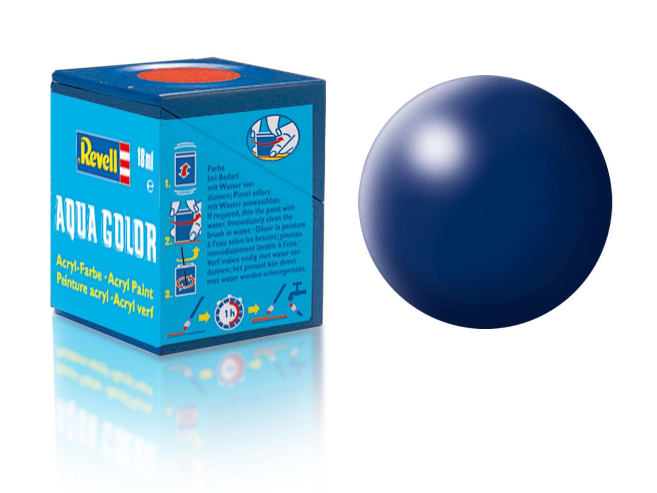 Farba Revell akrylová - 350: hodvábne matná tmavo modrá (dark blue silk)