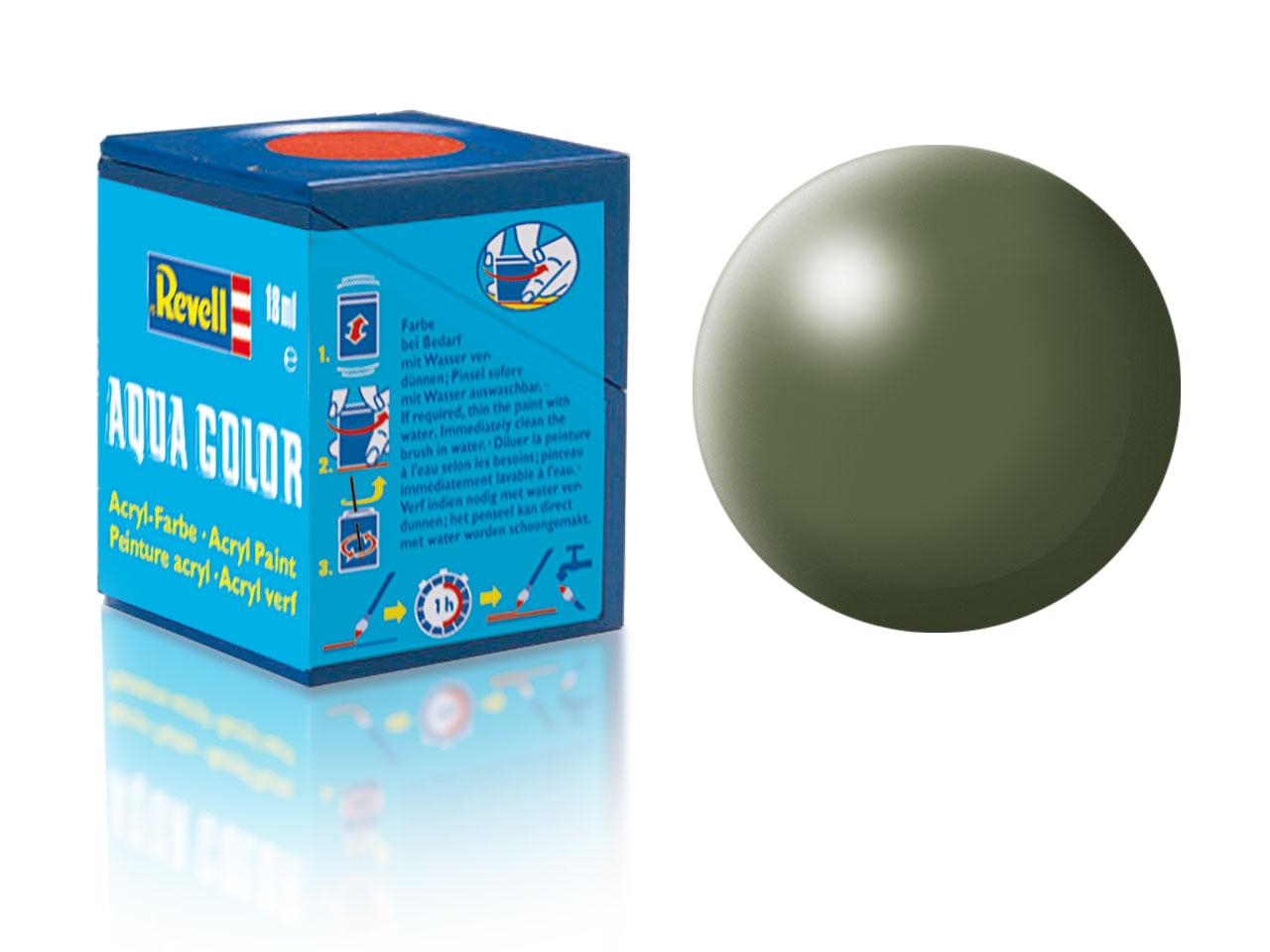 Farba Revell akrylová - 361: hodvábne matná olivovo zelená (olive green silk)