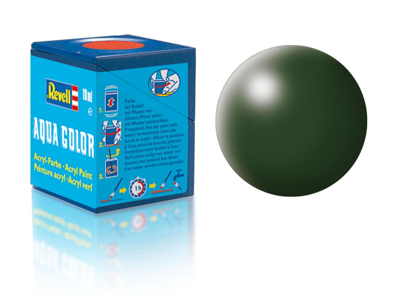 Farba Revell akrylová - 363: hodvábne matná tmavo zelená (dark green silk)