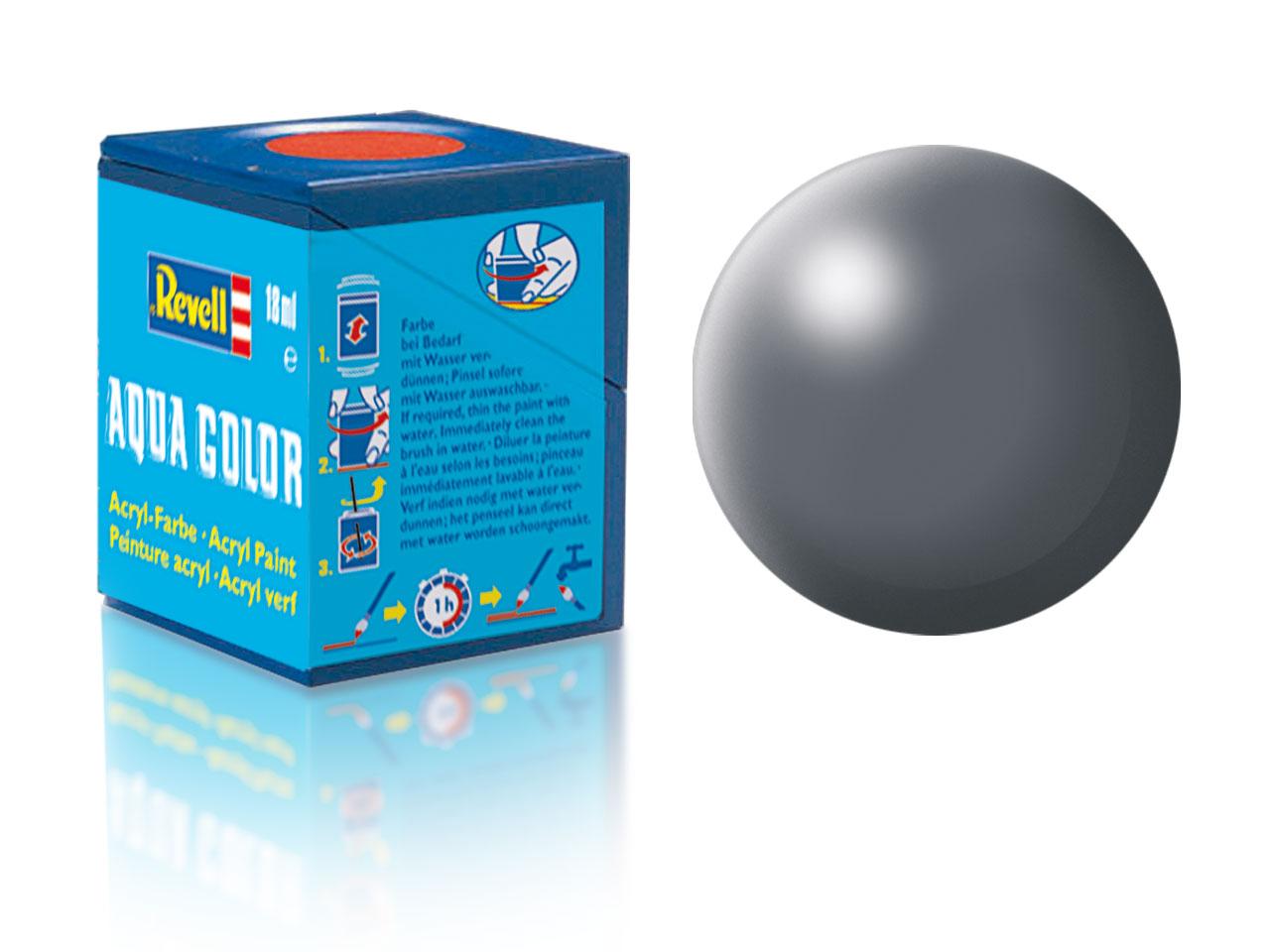 Farba Revell akrylová - 378: hodvábne matná tmavo šedá (dark grey silk)