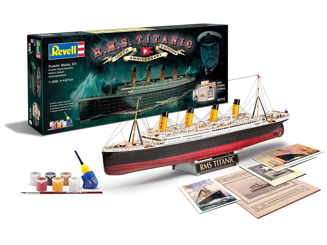 Darčekový set REVELL 05715 - R.M.S. Titanic - 100th anniversary edition (1:400)