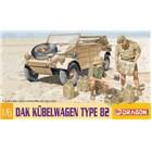 Model Kit military 75021 - DAK Kübelwagen Type 82 (1:6)
