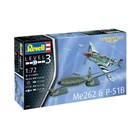 ModelSet letadla 63711 - Me262 & P-51B (1:72)